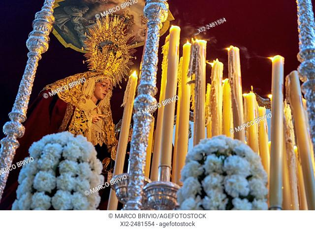 Malaga: religious processions during the Holy Week, Spain