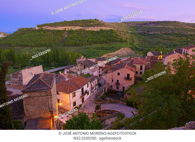 Sepulveda. View at Dusk, Segovia province, Castilla-Leon, Spain