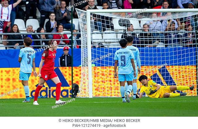 France, Reims, Stade Auguste-Delaune, 11.06.2019, Football - FIFA Women's World Cup - USA - Thailand Image: vl Rose Lavelle (USA