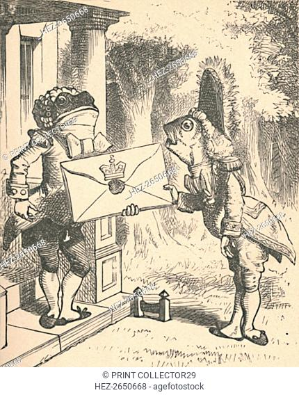 'The Frog Footman delivers the invitation', 1889. Artist: John Tenniel