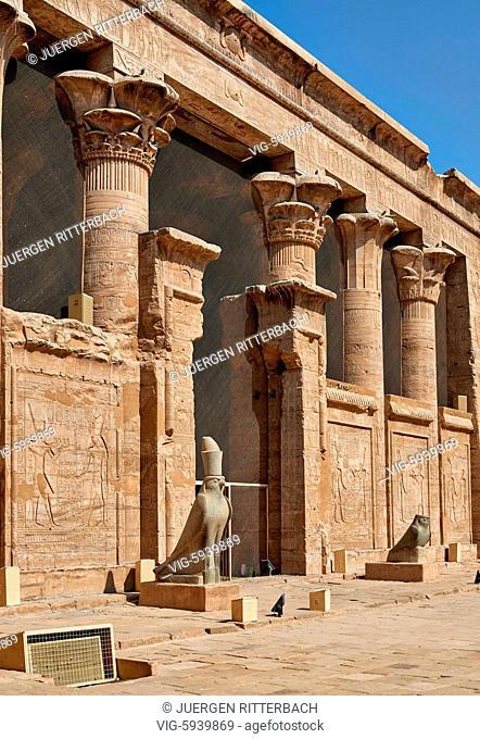 EGYPT, EDFU, 09.11.2016, Temple of Edfu, Egypt, Africa - Edfu, Egypt, 09/11/2016