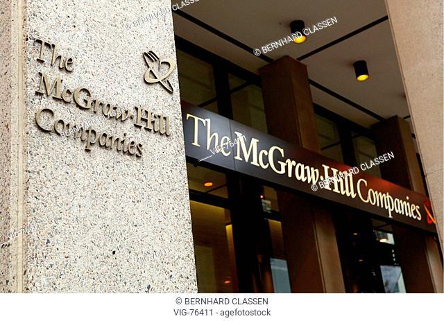 The McGraw-Hill Companies. - NEW YORK CITY, VEREINGTE STAATEN VON AMERIKA, 24/10/2004