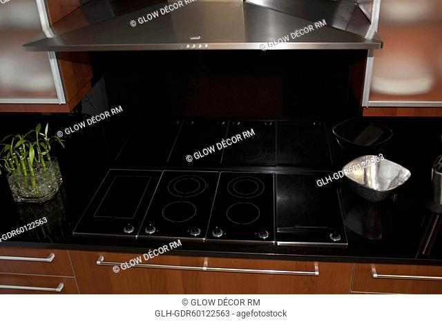 Stove in the kitchen