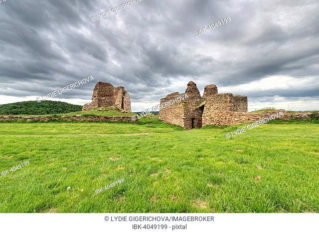 The ruins of Lichnice Castle or Lichtenburk Castle, Iron Mountain, Tremošnice, Pardubice Region, Czech Republic