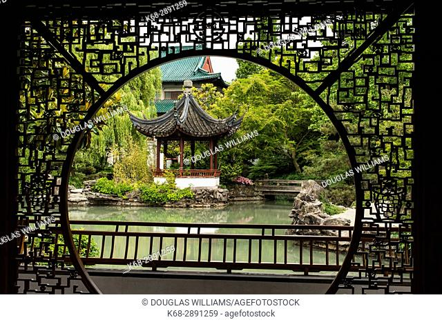 Dr Sun Yat-Sen Classical Chinese Garden, in Chinatown, Vancouver, BC, Canada