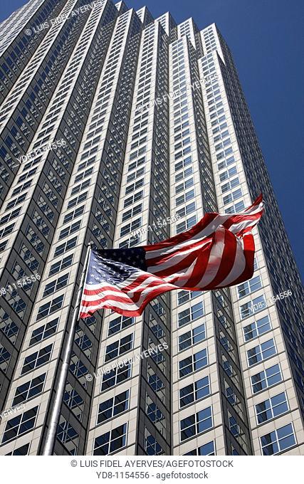 US flag, Miami, Florida, USA