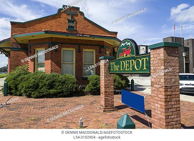 The Depot an old train station in Arcadia Florida