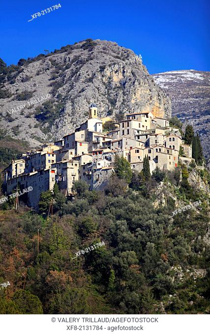 The village of Peillon, Alpes-Maritimes, French Riviera, Côte d'Azur, Provence-Alpes-Côte d'Azur, France