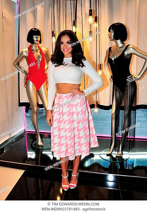 Vicky Pattison promotes her new line of swimwear for Ann Summers at Liverpool One shopping centre Featuring: Vicky Pattison Where: Liverpool