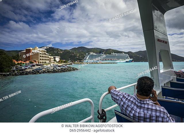 British Virgin Islands, Tortola, Road Town, aboard the Vigin Gorda Ferry
