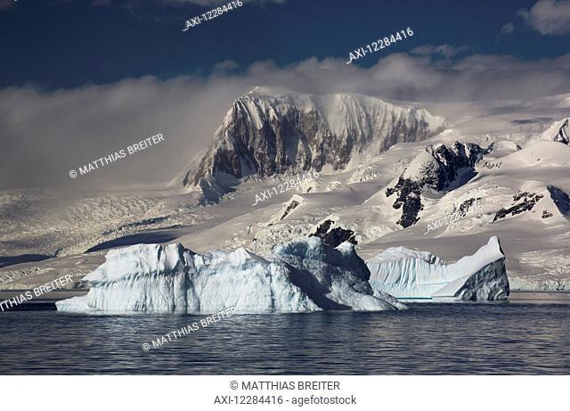 Icebergs in Gerlache Strait, Antarctic Peninsula; Antarctica