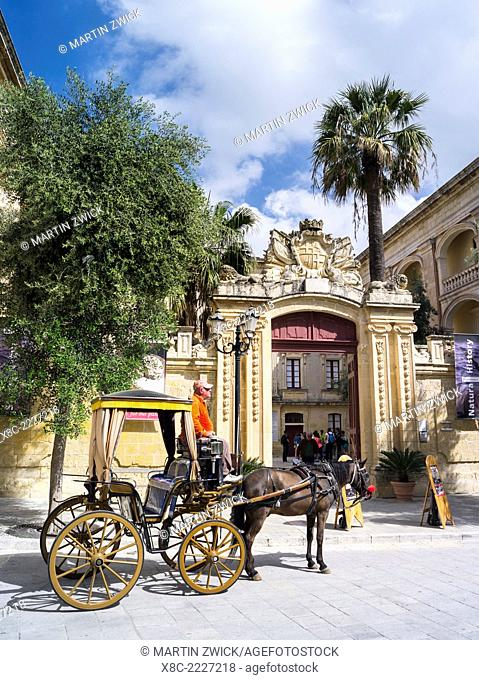Mdina old town , Mdina is the old capital of Malta. Europe, Southern Europe, Malta, April