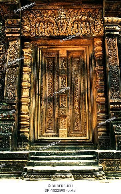 Doorway, Banteay Srei Temple, Angkor, Cambodia
