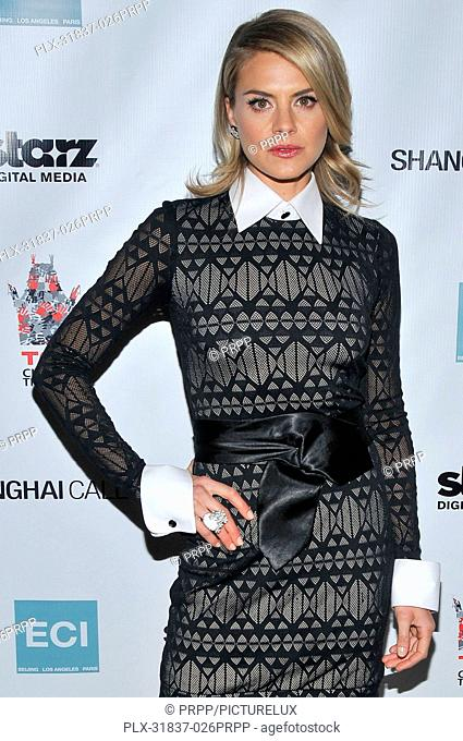 Eliza Coupe at the Shanghai Calling Los Angeles Premiere held at the TCL Chinese Theatre in Hollywood, CA.The event took place on Monday, Febuary 12, 2013