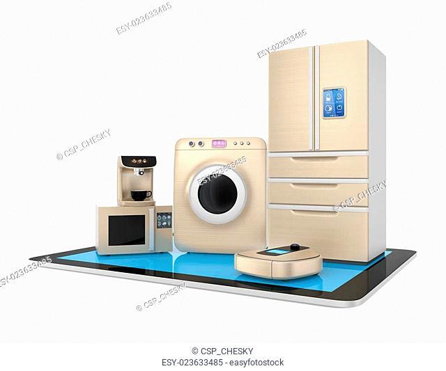 Smart kitchen appliances concept