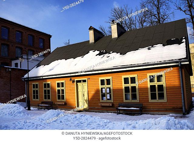 Open-air Museum of regional Wooden Architecture - integral part of Central Museum of Textiles, located on main artery of Lodz - Piotrkowska Street