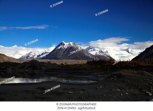 Getscherzunge des Kennicott und Root Gletschers