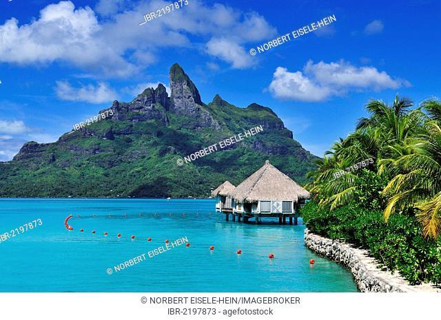 Mount Otemanu, St. Regis Bora Bora Resort, Bora Bora, Leeward Islands, Society Islands, French Polynesia, Pacific Ocean