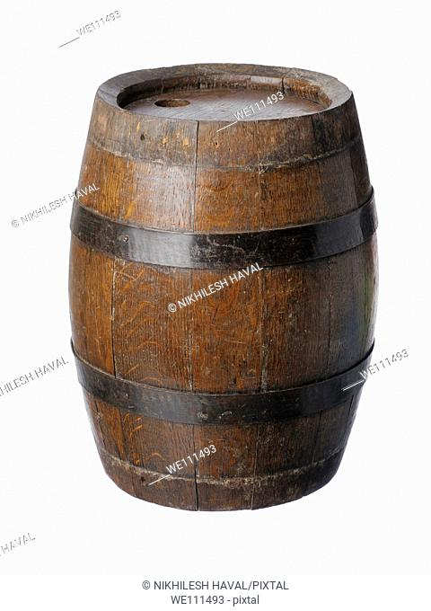 small wooden keg barrel