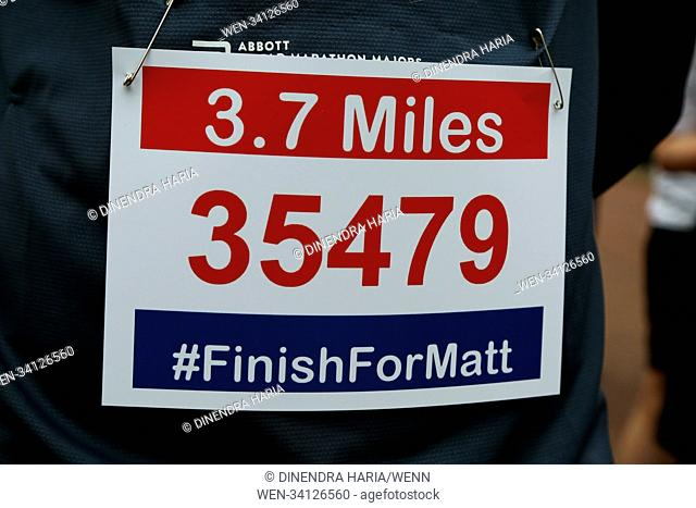 Over 100 runners complete a 3.7 mile run from Shadwell DLR station, where former MasterChef contestant Matt Campbell collapsed and died during the London...