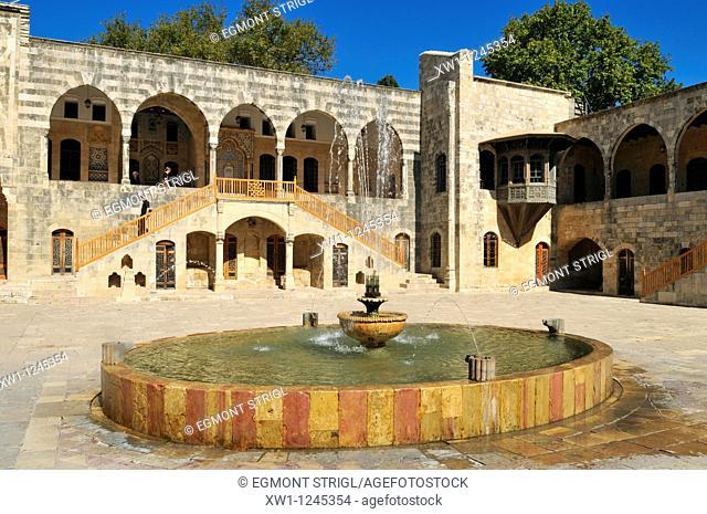 Patio of Beit ed-Dine, Beiteddine Palace of Emir Bashir, Chouf, Lebanon, Middle east, West Asia