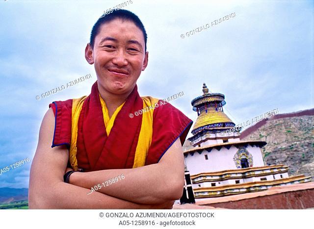 The Kumbum Stupa in Gyantse  Tibet's largest  Pelkor Chode Monastery  Gyantse  Tibet  China