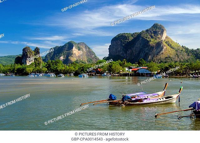Thailand: Tour boats, Hat Noppharat Thara, Krabi Coast, Krabi Province