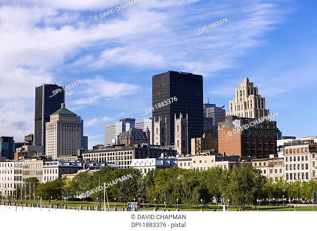 Skyline And Old Port, Montreal, Quebec, Canada