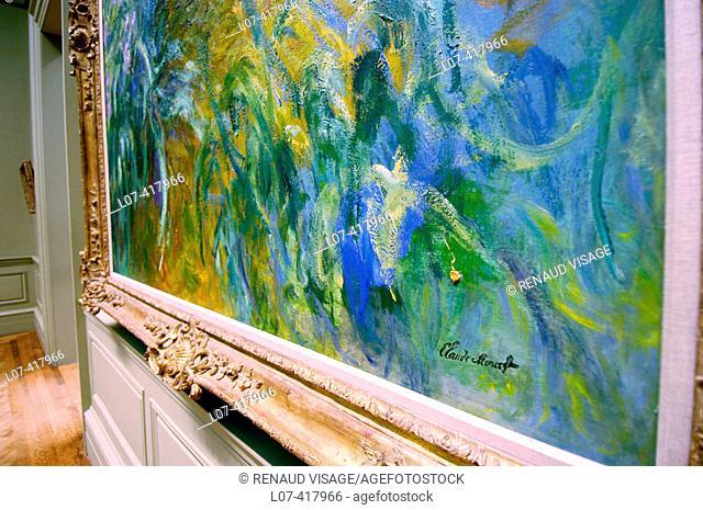 Close-up of Claude Monet's signature. Metropolitan Museum of Art. New York City. New York. United States