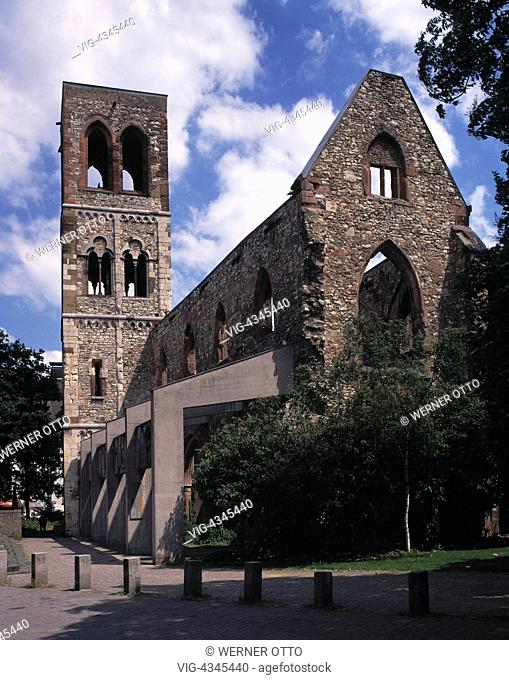 D-Mainz, Rhein, Rheinland-Pfalz, Karmeliterkirche, Kirchenruine D-Mainz, Rhine, Rhineland-Palatinate, Carmelite Church, church ruin - Mainz, Rheinland-Pfalz