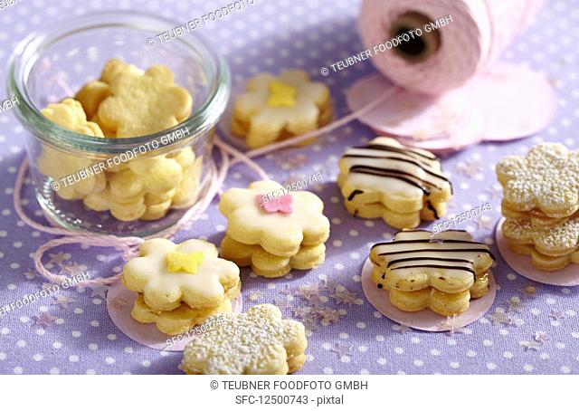 Passion fruit flower biscuits