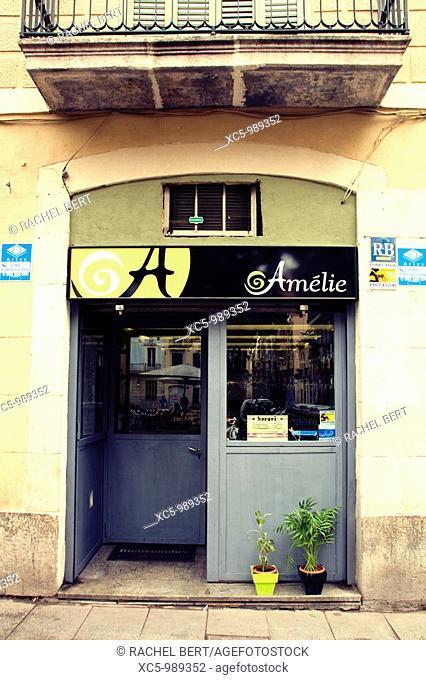 Restaurant, Gracia, Barcelona, Catalonia, Spain