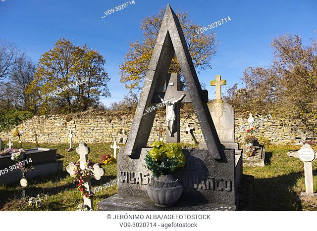 Rural cemetery. Las Merindades. Burgos, Castilla Leon Spain. Europe