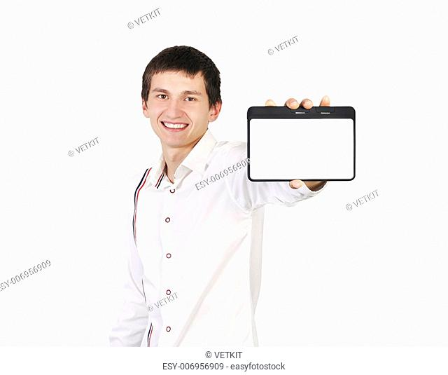 guy with a digital tablet in a hand