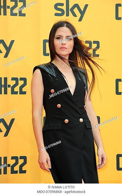 Italian actress Ivana Lotito attends the premiere of the Sky TV serie Catch-22. Rome (Italy), May 13th, 2019