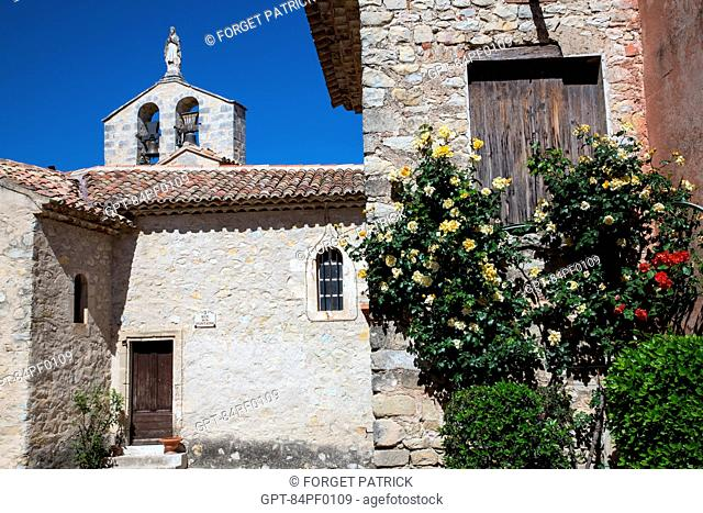 THE CHURCH OF VITROLLES EN LUBERON, REGIONAL NATURE PARK OF THE LUBERON, VAUCLUSE (84), FRANCE