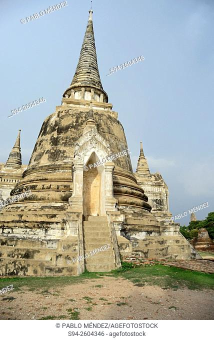 Wat Phra Si Sanphet temple in Ayyuthaya, Thailand