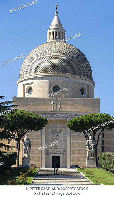 The Basilica of St Peter and Paul in the EUR district of, Rome, Italy