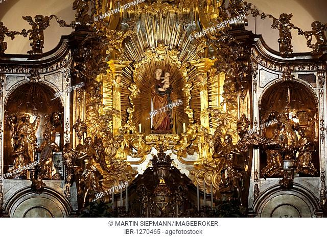 Miraculous image of the Virgin Mary in Loreto Chapel, pilgrimage church, Sanctuary of the Visitation, Rankweil, Vorarlberg, Austria, Europe