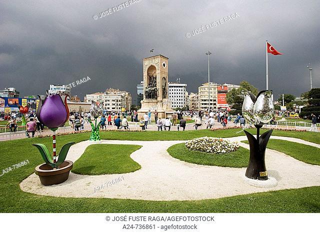 Taksim Square in Beyoglu district, Istanbul, Turkey