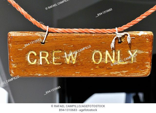 Crew only sign in cruise ship