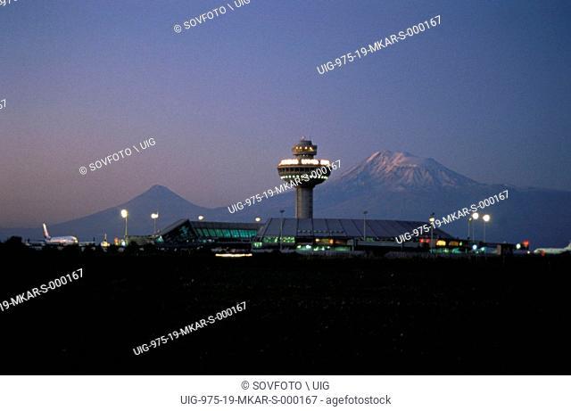 Zvarnots Airport At Sunrise. Yerevan, Armenia