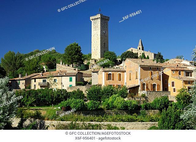 Clock tower, Saint-Martin de Brômes, Provence, France