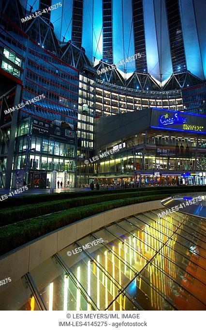 Sony Center Interior. Berlin, Germany, Europe