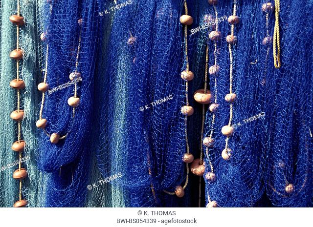 blue fisher nets, Dominica