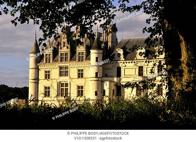 France, Indre-et-Loire, Loire Valley, Château de Chenonceau, built between 1513 - 1521 in Renaissance style