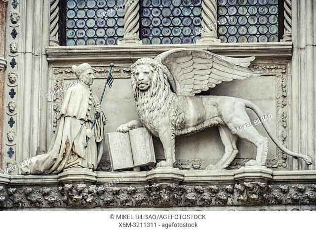 Entrance to Doge's Palace. Venice. Italy. Europe