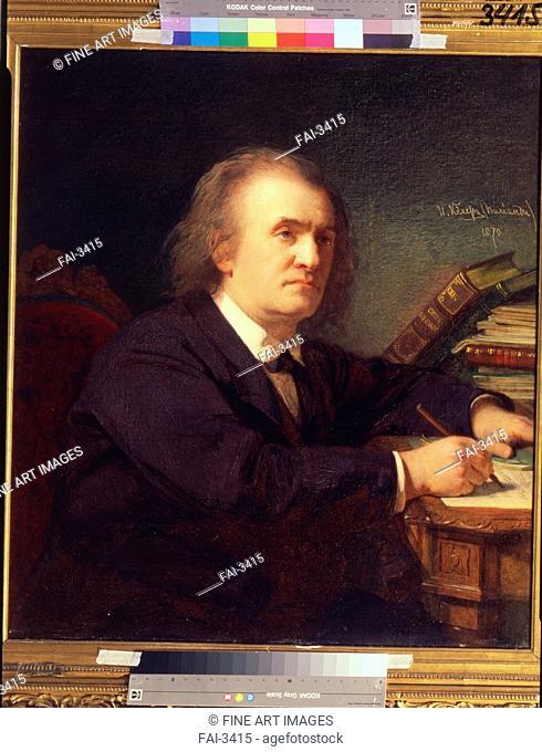 Portrait of the composer Alexander Serov (1820-1871). Keler-Viliandi, Ivan Petrovich (1826-1899). Oil on canvas. Russian Painting of 19th cen. . 1870
