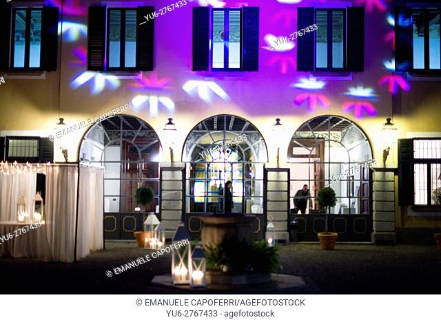 Villa externally illuminated
