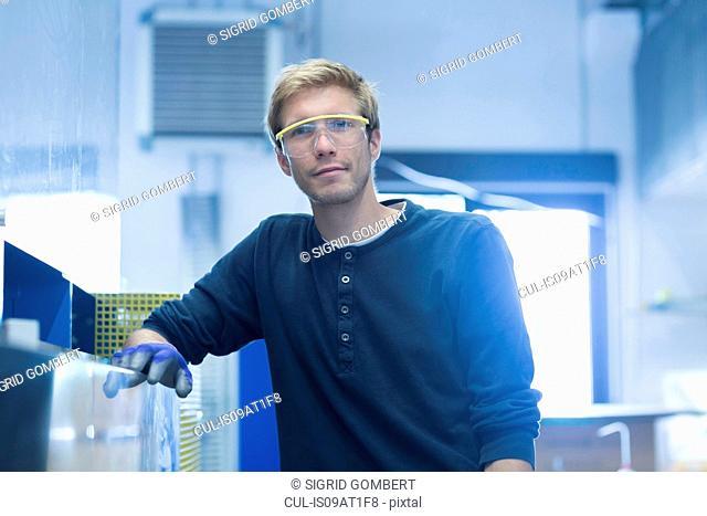 Portrait of factory technician